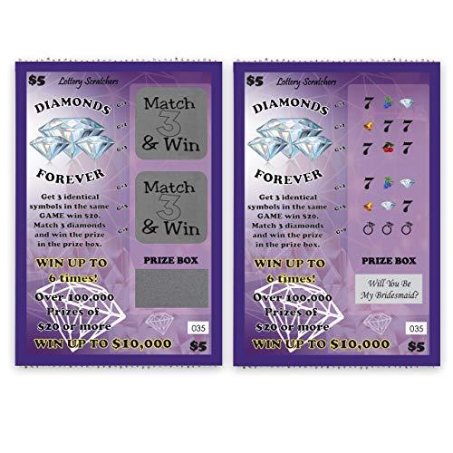 Will You Be My Bridesmaid? - Lotto Replica Scratch Off Card - 1 Card - My Scratch Offs
