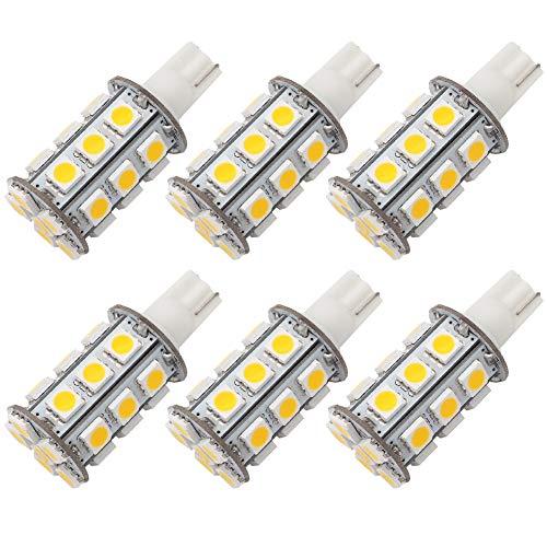 28v Wedge - GRV T10 921 194 Wedge 24-5050 SMD LED Bulb lamp Super Bright Warm White AC/DC 12V ~28V Pack of 6