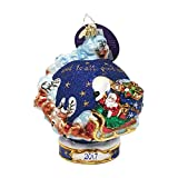 """Christopher Radko Handcrafted Christmas Ornament: """"Christmas Around the World"""" Collectible Item #3013295 –Limited Edition 2017 Dated Glass Bauble Similar To #1017975 -Only 120 Units"""