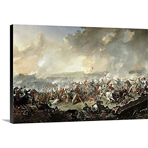 GREATBIGCANVAS Gallery-Wrapped Canvas Entitled The Battle of Waterloo, 18th June 1815 by Denis Dighton 36