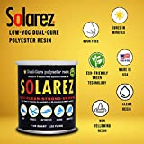 Solarez UV Dual Cure, Low-VOC Clear Polyester Resin (Pint) ~ Clear Laminating Resin - No Waiting! for Custom Woodworking, Surfboards, Marine, Auto, Hobby ~ Eco-Friendly ~ Made in The USA