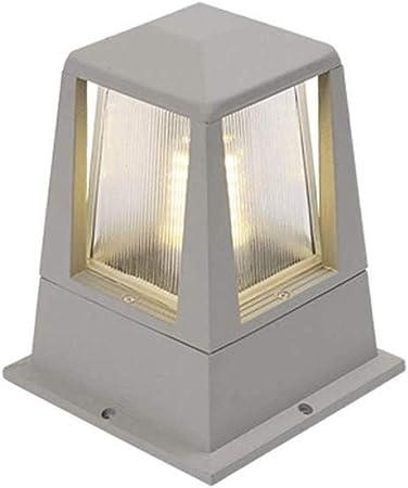 XAJGW Pilar Columna de la lámpara LED del jardín de la Puerta Exterior de la lámpara