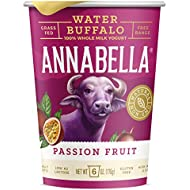 A2 Water Buffalo Yogurt (Passion Fruit) 6oz Cup - 12 Cups - A2/A2 Water Buffalo Milk, Non-GMO, Gluten Free, 100% Grass Fed, Higher Protein, More Calcium, Less Cholesterol and Lactose