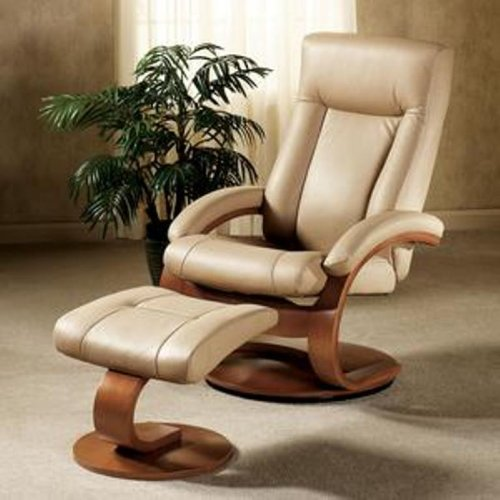 Amazon.com Mac Motion Oslo Collection Recliner with Matching Ottoman in Cobblestone Top Grain Leather with Walnut Frame Kitchen u0026 Dining & Amazon.com: Mac Motion Oslo Collection Recliner with Matching ... islam-shia.org