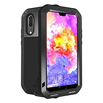 best sneakers c0571 21b00 LOVE MEI Huawei P20 Shockproof Case, Outdoor Armor Tank Waterproof  Shockproof Dust/Dirt/Snow Proof Hybrid Heavy Duty Aluminum Metal Case Cover  for ...