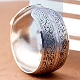 BAQI Connecting Branches Carved Tibetan Silver Women Men Cuff Bracelet Bangle Free, Sliver