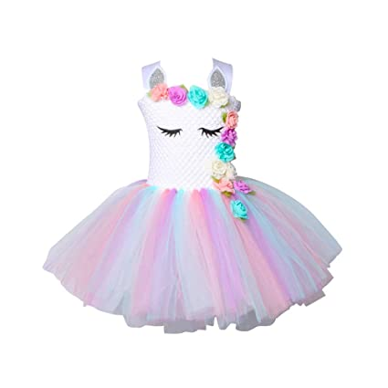 Amazon.com: TENDYCOCO Unicorn Tutu Dress for Girls Kids ...