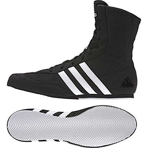 adidas Box Hog Mens Boxing Trainer Shoe Boot Black/White - US 9 (Best Shoes For Boxing Fitness)