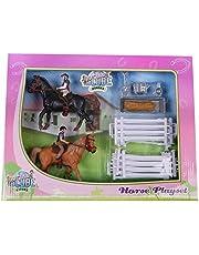 Nonlicense 640072 Set van 2 Paarden met Ruiters en Accessoires