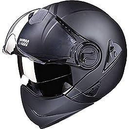 Studds Downtown F/F Helmet Matt Black(L)