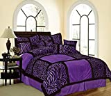 Purple Queen Comforter Sets Sale Empire Home Mikasa Collection Luxurious Micro Suede Soft Comforter Set - Limited-Time Sale!! (Purple Safari, Queen Size)