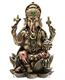 Collectible India Ganesh Idol Cold Cast Bronze Sculpture Hindu God Figurine Ganesha Statue Decor Gifts