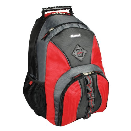 (Microsoft 15.6-Inch Laptop Backpack - Queue (Red) (39318))