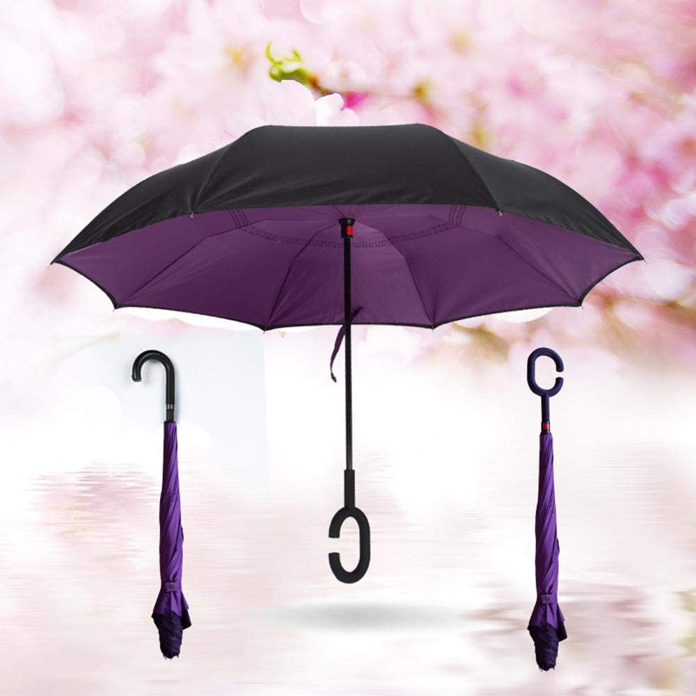 TtKj Folding Umbrella Double-Layer Reverse Reversal on The Straight bar is not Wet and Windproof Anti-Receiver Umbrella 80105116CM