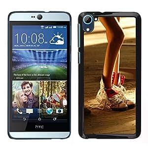 Caucho caso de Shell duro de la cubierta de accesorios de protección BY RAYDREAMMM - HTC Desire D826 - Diseño atractivo de la pierna