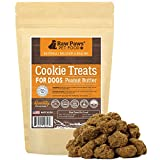 Raw Paws Pet All-Natural Peanut Butter Dog Cookies, 5-Ounce – Made in USA Only – Peanut Butter Treats for Dogs – Wheat, Corn, Soy & Preservative Free – Peanut Butter Dog Treats