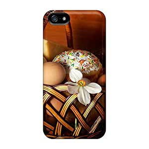 Iphone 5/5s Case Cover - Slim Fit Tpu Protector Shock Absorbent Case (easter Sunday Attractive Easter Basket)