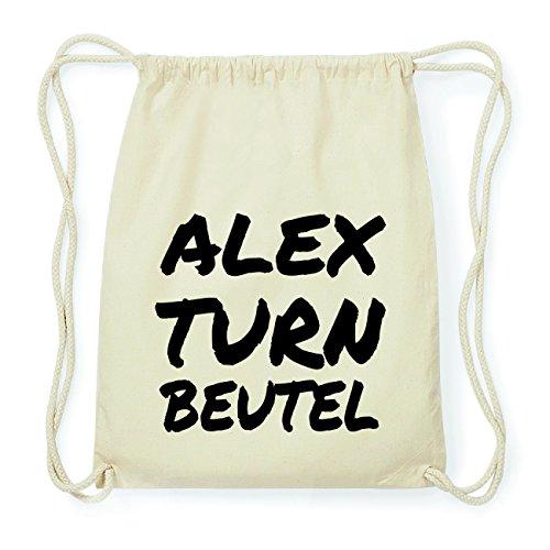 JOllify ALEX Hipster Turnbeutel Tasche Rucksack aus Baumwolle - Farbe: natur Design: Turnbeutel