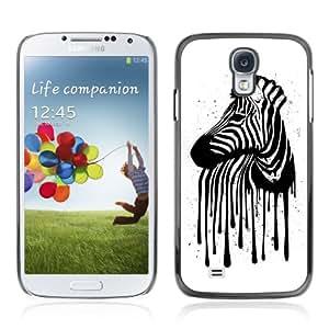 CQ Tech Phone Accessory: Carcasa Trasera Rigida Aluminio Para Samsung Galaxy S4 i9500 - Zebra Stripes Art Illustration painting