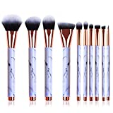 Makeup Brushes Set, 10pcs Professional Marble Makeup Brushes with Blush Foundation Highliter Brush, Eeyshadow Concealer Eyeliner Lip Brush, Face Travel Make Up Brushes Cosmetic Tool
