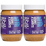 Don't Go Nuts Nut-Free Non GMO Organic Roasted Soybean Spread, Slightly Sweet, 2 Count