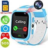 Smart Watch for Kids - [Speedtalk SIM Included] Kids Smartwatch Phone for Boy Girl with Camera 9 Game Stopwatch SOS Call Digital Wrist Cellphone Watch Bracelet Sport Outdoor Summer Holiday Prime Gift