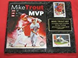 Mike Trout Anaheim Angels 2 Card Collector Plaque w/8x10 2014 MVP Photo!