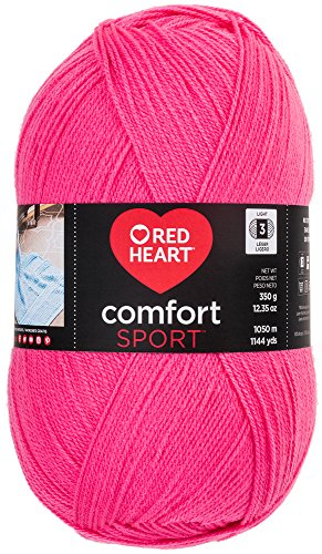 RED HEART  Comfort Sport Yarn, Hot Pink