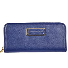 Marc by Marc Jacobs women's wallet leather coin case holder purse card bifold blu