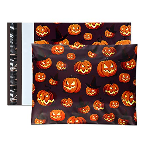 UCGOU 10x13 Inch Poly Mailers Halloween Designer Shipping Envelopes Boutique Custom Bags, Thickness 2.35MIL, Pack of 100