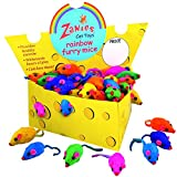 Zanies-Cheese-Wedge-Display-Boxes-60-Furry-Mice-Toys-for-Cats