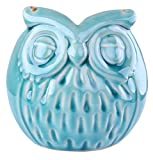Delightful Ceramic 'Wise Old Owl' Vase Animal Planter for Indoor or Outdoors
