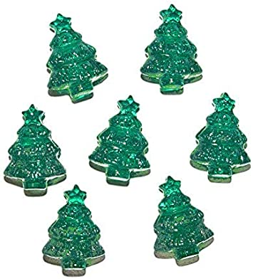 6 x 25mm Opaque Green Christmas Tree Pony Beads IDEAL FOR DUMMY CLIPS
