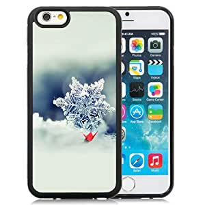 New Beautiful Custom Designed Cover Case For iPhone 6 4.7 Inch TPU With Snowflake Closeup Phone Case