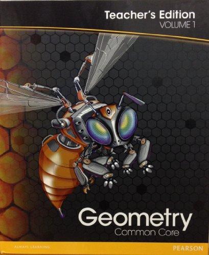 Geometry: Teacher's Edition Volume 1