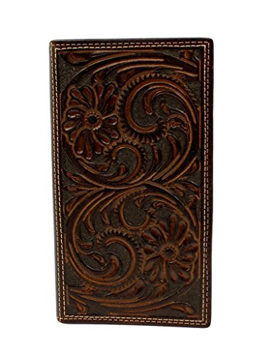 Nocona Floral Embossed Men's Rodeo Nocona Rodeo Brown Wallet Men's 1RE7w