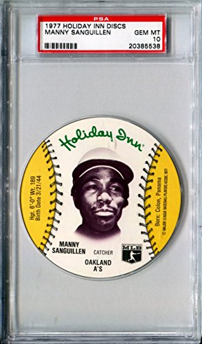 1977-msa-holiday-inn-sports-discs-manny-sanguillen-rare-psa-gem-mint-10-sp-oakland-as-pittsburgh-pir