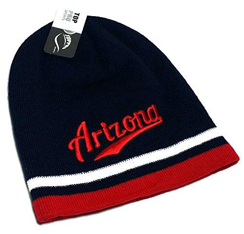 Arizona LOG New Beanie Toque Skull Hoody Wildcats Blue Red Era Hat Knit Cap