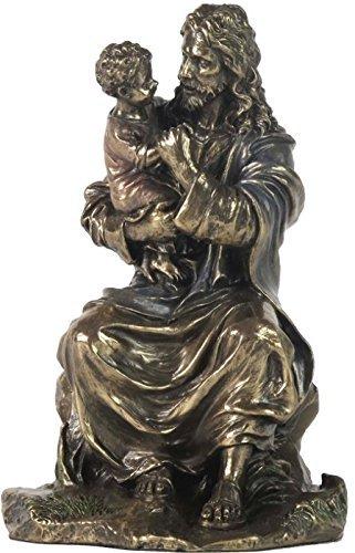 - 6.25 Inch Jesus Christ Holding A Child Cold Cast Bronze Figurine