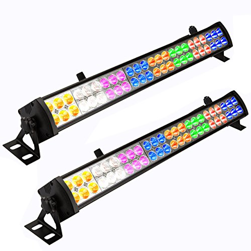 Led Wash Bar - Eyourlife 2 Pcs 48 x 3 W LED Wash Wall Light Bar DJ Lighting DMX512 3/12 Channels Stage Lights Party Wedding Lights 8 Colors LED Lighting for DJ Club Home Party