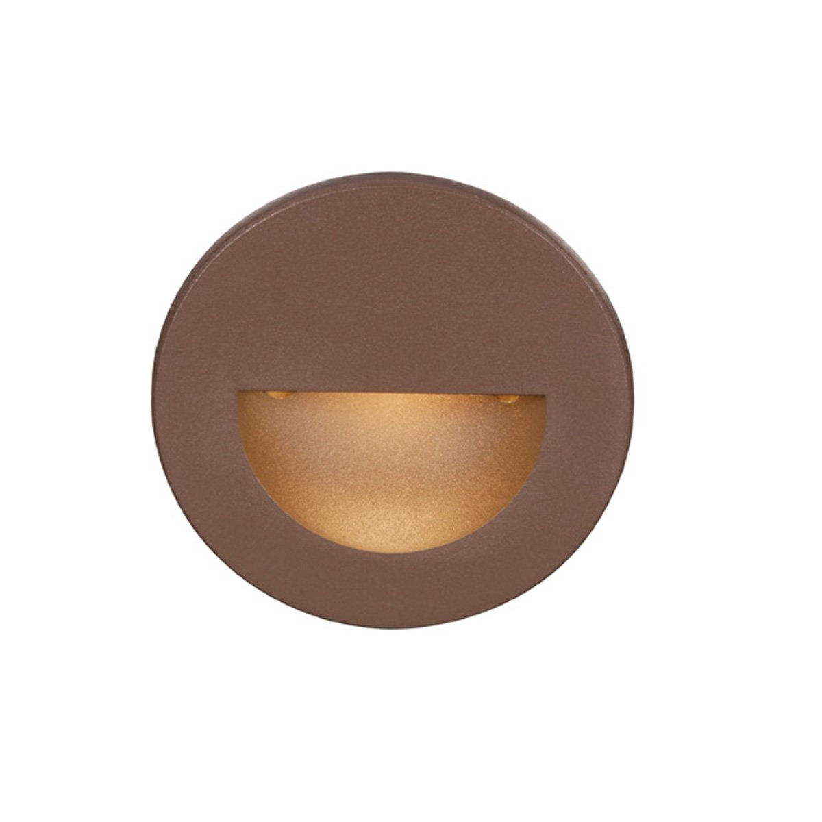 WAC Lighting WL-LED300-C-BZ Circular Scoop 4W 120V LED Step Light with White Lens, Bronze Finish