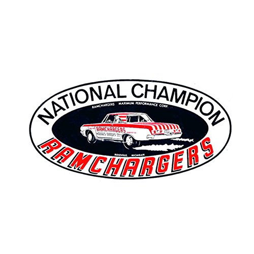 (Ramchargers National Champion Vintage Reproduction Drag Racing Hot Rod Decal Bumper Sticker )
