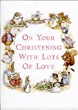 Beatrix Potter Christening Greeting Card Pink