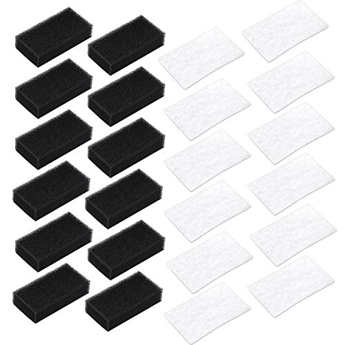 Hestya Standard Filter 12 Reusable Black Filters for Philips Respironics M Series and 12 Disposable White Filters for ResMed AirSense AirCurve AirStart S9 S10 Machines