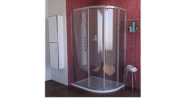 Cabina de ducha 100 x 80 Izquierda, redonda ducha 1000 x 800 x ...