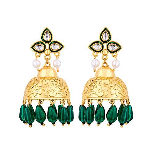 Voylla Noor-Jahan Moti Magic Jhumkis For Women