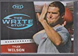 2013 Sage Hit Tyler Wilson Raiders The Write Stuff Football Card #WS6