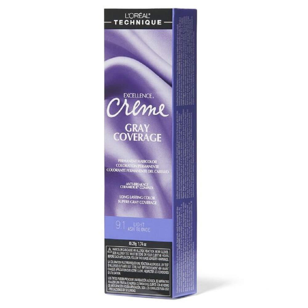 L'oreal Excellence Creme Permanent Hair Color Light Ash Blonde No.9.1, 1.74 Ounce