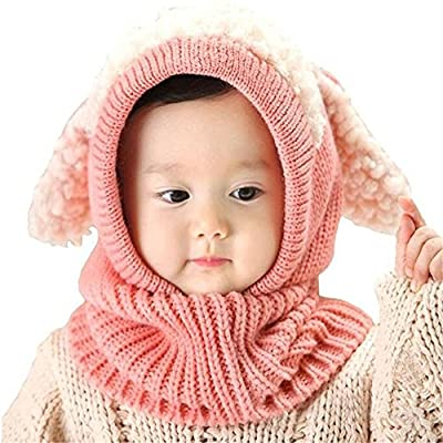 Baby Girls Boys Winter Hat Scarf Earflap Hood Scarves Caps stocking cap/scarf