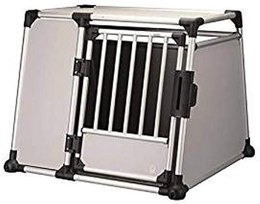 Trixie - Caja de Transporte (Aluminio, 94 x 75 x 88 cm), Color Plateado y Gris Claro: Amazon.es: Productos para mascotas